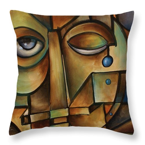 Religious Throw Pillow featuring the painting Gods Anvil by Michael Lang