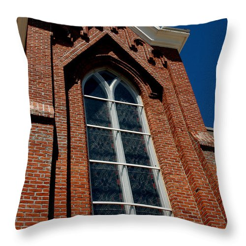 Usa Throw Pillow featuring the photograph Gods Window St. Mary's In The Mountains Catholic Church by LeeAnn McLaneGoetz McLaneGoetzStudioLLCcom