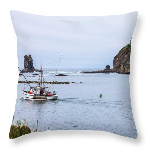 Fishing Throw Pillow featuring the photograph Goin' Fishin' by Larry Waldon