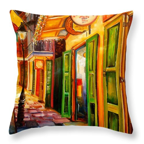 New Orleans Throw Pillow featuring the painting Going Back To New Orleans by Diane Millsap