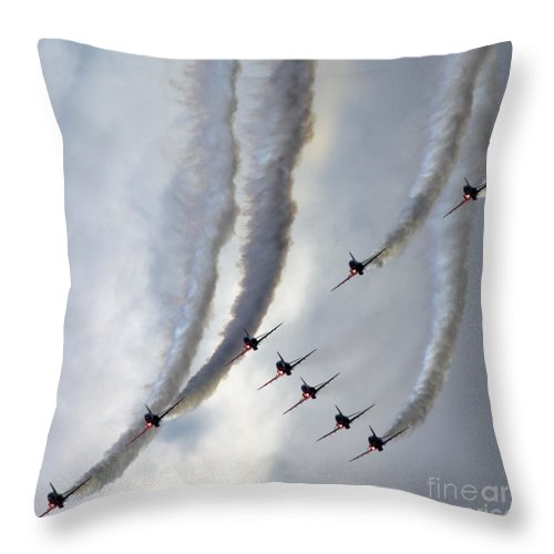 Throw Pillow featuring the photograph Going Down by Angel Ciesniarska