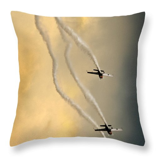 Blades Extra 300 Throw Pillow featuring the photograph Going Down by Angel Ciesniarska