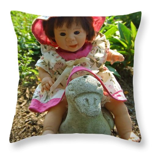 Child Throw Pillow featuring the photograph Going For A Ride by Mark Sellers