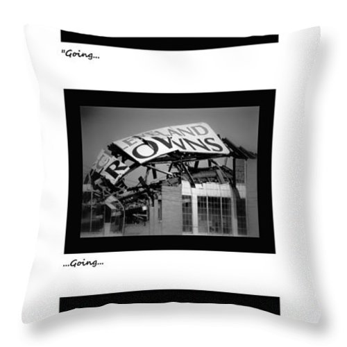 Cleveland Throw Pillow featuring the photograph Going Going Gone by Kenneth Krolikowski