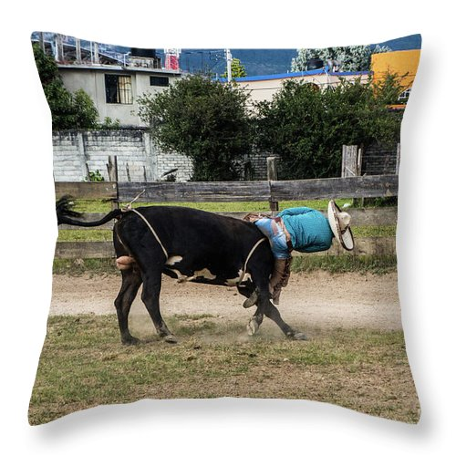 Chiapas Throw Pillow featuring the photograph Going, Going by Kathy McClure