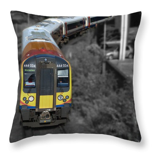 Train Throw Pillow featuring the photograph Going Home by Chris Day