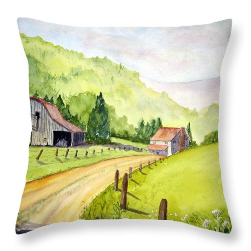 Barns Throw Pillow featuring the painting Going Home by Julia RIETZ