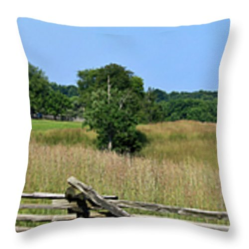 Appomattox Throw Pillow featuring the photograph Going To Appomattox Court House by Teresa Mucha