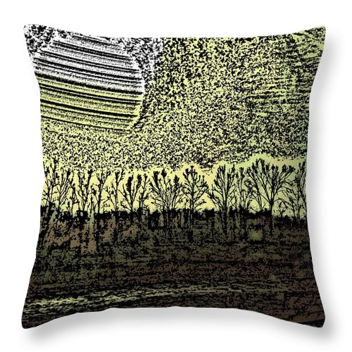 Woods Throw Pillow featuring the photograph Going To The Woods by Crystal Webb