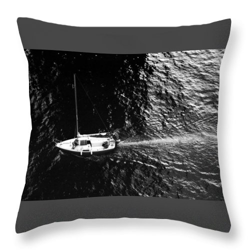 Abstract Throw Pillow featuring the photograph Going Under The Bridge by Lyle Crump