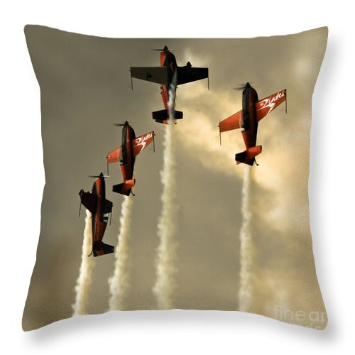 Blades Extra 300 Throw Pillow featuring the photograph Going Up by Angel Ciesniarska