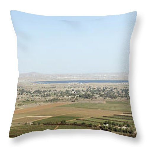 Israel Throw Pillow featuring the photograph Golan Heights by Ilan Rosen