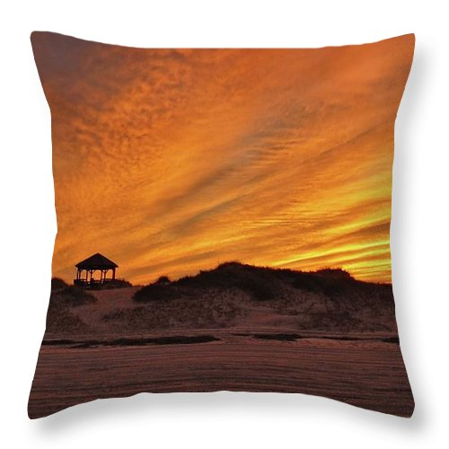 Nature Throw Pillow featuring the photograph Gold Above Them Thar Dunes by Matt Taylor