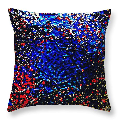 Glitter Throw Pillow featuring the photograph Gold And Glitter 17 by Sarah Loft