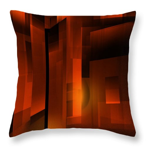 Abstract Throw Pillow featuring the digital art Gold by John Krakora
