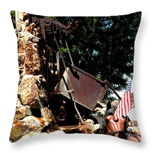 Usa Throw Pillow featuring the photograph Gold Mining Virginia City Nv by LeeAnn McLaneGoetz McLaneGoetzStudioLLCcom