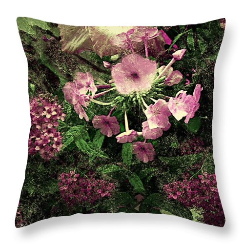 Flowers Throw Pillow featuring the painting Golddust by RC DeWinter