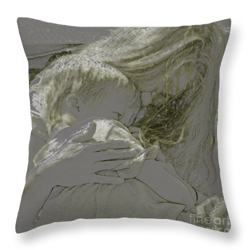 Child Throw Pillow featuring the photograph Golden by Gary Everson