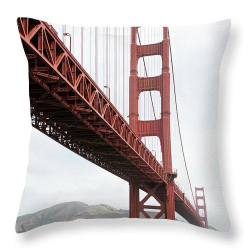 Golden Gate Bridge Throw Pillow featuring the photograph Golden Gate Bridge by Masha Batkova