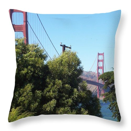 Golden Gate Bridge Throw Pillow featuring the photograph Golden Gate by Elizabeth Klecker