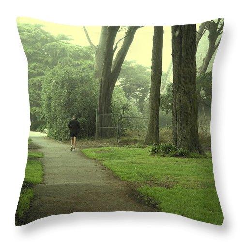 Landscape Throw Pillow featuring the photograph Golden Gate Park 06 by Pusita Gibbs