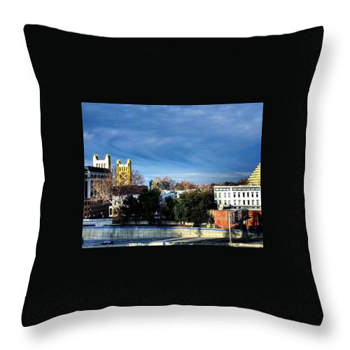 Blue Throw Pillow featuring the photograph Golden Gate by Christopher Wilson