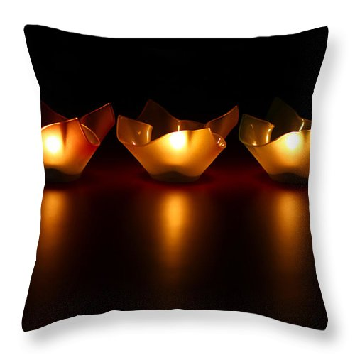 Blur Throw Pillow featuring the photograph Golden Glow by Evelina Kremsdorf