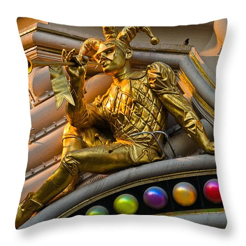 Herald Throw Pillow featuring the photograph Golden Jester by Christopher Holmes