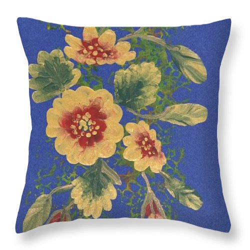 Decorations Throw Pillow featuring the painting Golden Radiance by Georgeta Blanaru