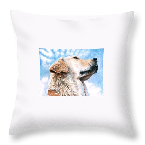 Dog Throw Pillow featuring the painting Golden Retriever by Nicole Zeug