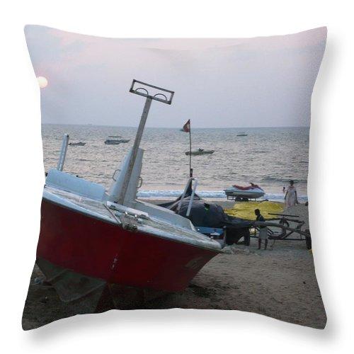 Pietyz Artz Throw Pillow featuring the photograph Golden Sandz Of Goa by Piety Dsilva
