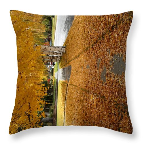 Yellow Throw Pillow featuring the photograph Golden Streets by Sandy Henderson