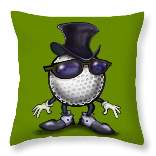 Golf Throw Pillow featuring the digital art Golf Classic by Kevin Middleton