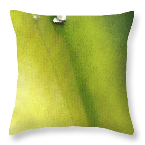 Golf Throw Pillow featuring the painting Golf In Spain Castello Masters 03 by Miki De Goodaboom