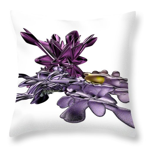 Fractal Throw Pillow featuring the digital art Golumphr Castle by Frederic Durville