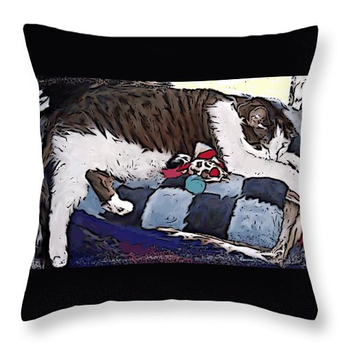 Photo Throw Pillow featuring the painting Gomez by Crystal Webb
