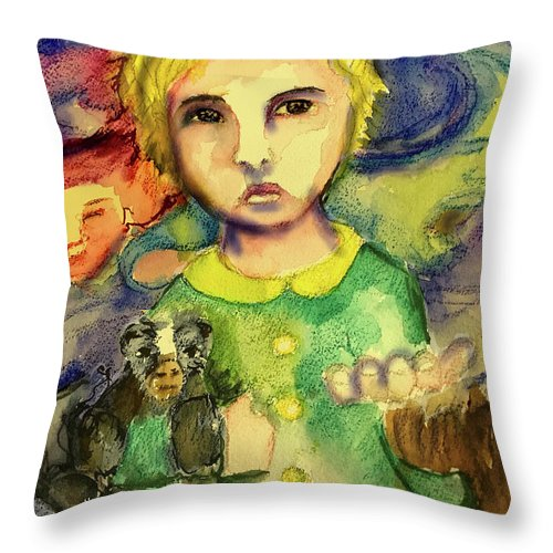 Child Throw Pillow featuring the painting Gone by Cynthia Richards