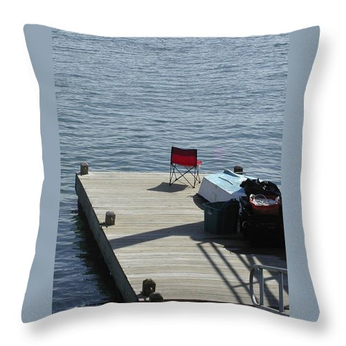 Fishing Throw Pillow featuring the photograph Gone Fishing by Faith Harron Boudreau