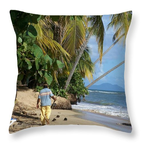 Puerto Rico Throw Pillow featuring the photograph Gone Fishing by Marilyn Holkham
