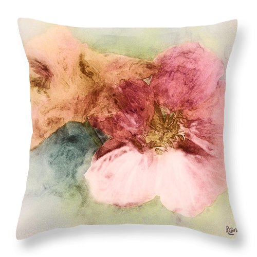 Flowers Throw Pillow featuring the digital art Gone Native by RC DeWinter