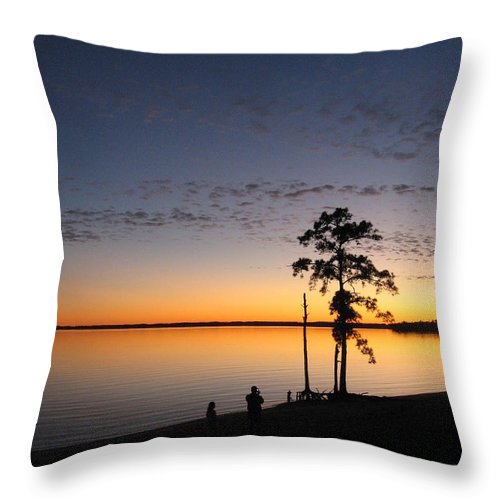 Gone The Sun Throw Pillow featuring the photograph ...gone The Sun by Andrew Wijesuriya