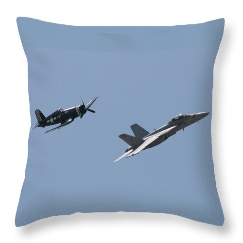 Airplane Throw Pillow featuring the photograph Good Buddies by David Dunham
