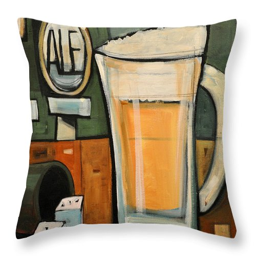 Beer Throw Pillow featuring the painting Good For What Ales You by Tim Nyberg