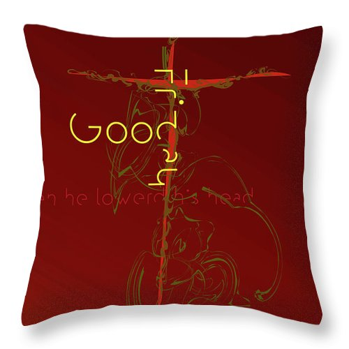 Holy Week Throw Pillow featuring the digital art Good Friday by Chuck Mountain