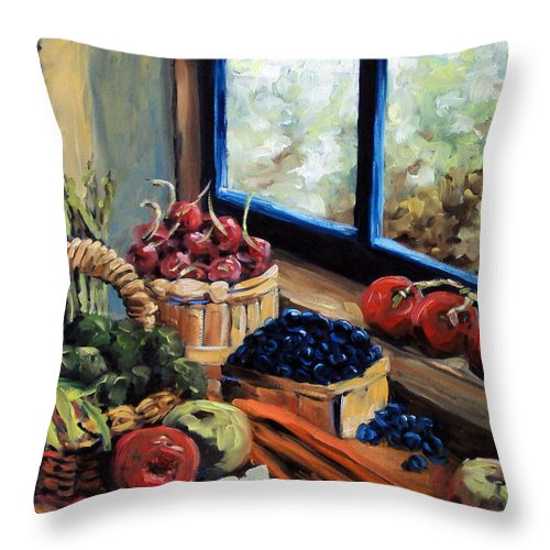 Art; Painting Throw Pillow featuring the painting Good Harvest by Richard T Pranke