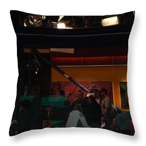 Studio Throw Pillow featuring the photograph Good Morning America Commercial Break by Rob Hans