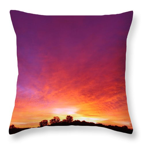 Sunrise Throw Pillow featuring the photograph Good Morning by Cathy Beharriell