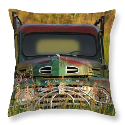 Ford Throw Pillow featuring the photograph Good Morning Ford by Jerry Mann