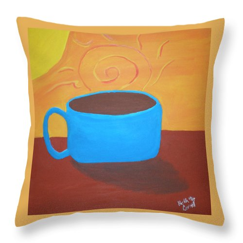 Good Morning Sunshine Throw Pillow featuring the painting Good Morning Sunshine by Beth Cornell