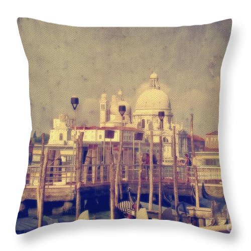 Venice Throw Pillow featuring the photograph Good Morning Venice by Lois Bryan